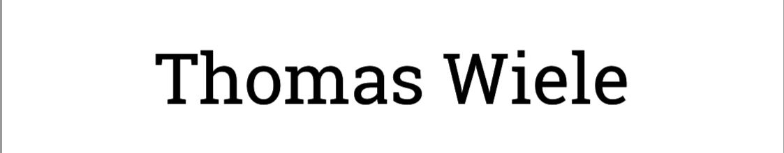 Thomas Wiele Agentur
